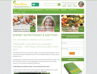 hamiltondietetics.com screenshot