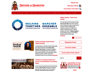 hamiltondiocese.com screenshot