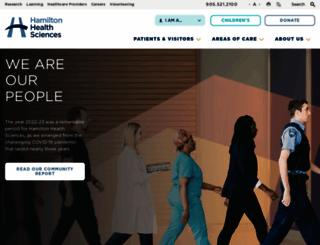 hamiltonhealthsciences.ca screenshot