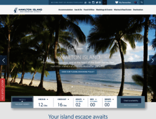 hamiltonisland.com.au screenshot