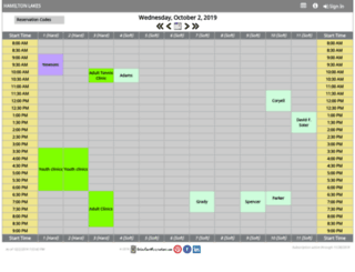 hamiltonlakes.onlinecourtreservations.com screenshot