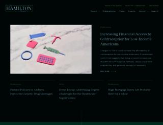 hamiltonproject.org screenshot