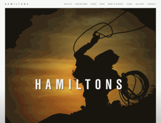 hamiltonsgallery.com screenshot