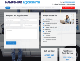 hampshirelocksmith.co.uk screenshot
