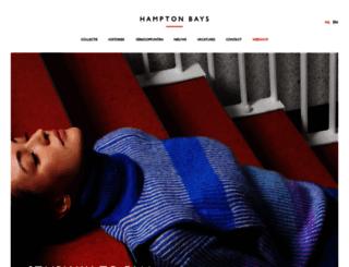 hamptonbays.be screenshot