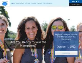 hamptonsmarathon.com screenshot