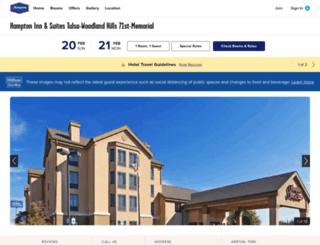 hamptontulsahotel.com screenshot