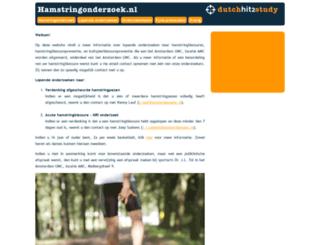 hamstringonderzoek.nl screenshot
