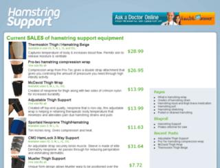 hamstringsupport.com screenshot