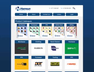 hamsun.co.za screenshot