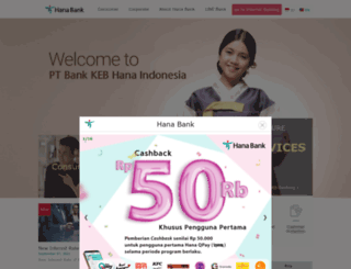 hanabank.co.id screenshot