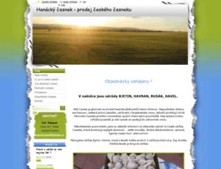 hanacky-cesnek.webnode.cz screenshot