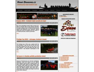 hanadragons.cz screenshot