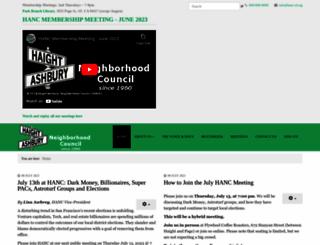 hanc-sf.org screenshot