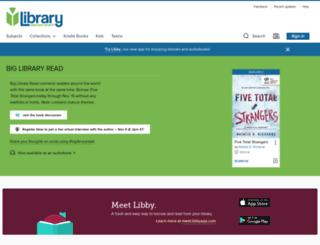 hancockcountyin.libraryreserve.com screenshot