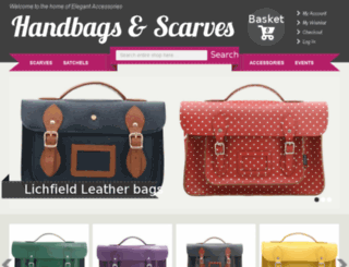 handbagsandscarves.co.uk screenshot
