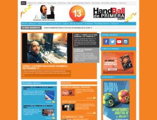 handballdeprimera.com screenshot