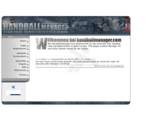 handballmanager.com screenshot