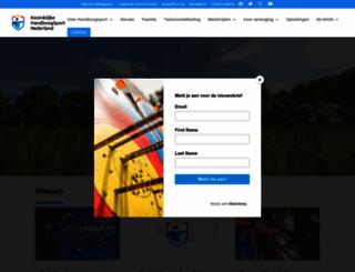 handboogsport.nl screenshot