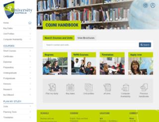 handbook.cqu.edu.au screenshot