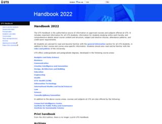 handbook.uts.edu.au screenshot
