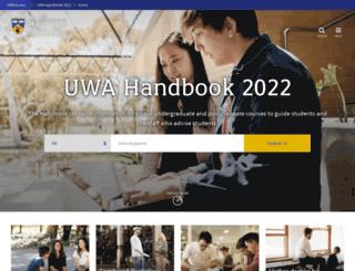 handbooks.uwa.edu.au screenshot