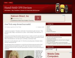 handheldgpsdevices.org screenshot