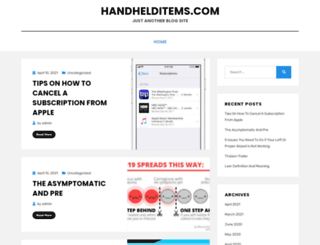 handhelditems.com screenshot
