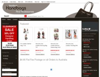 handleyshandbags.com.au screenshot