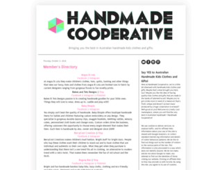 handmadecooperative.blogspot.com screenshot