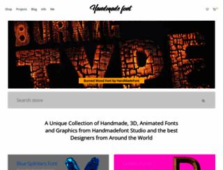 handmadefont.com screenshot