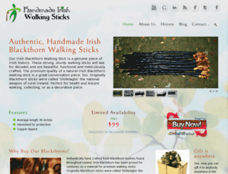 handmadeirishwalkingsticks.com screenshot
