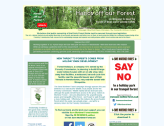 handsoffourforest.org screenshot
