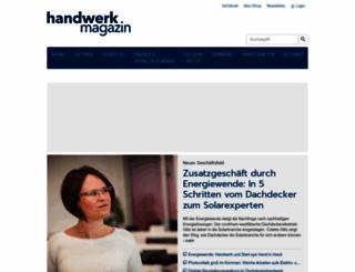 handwerk-magazin.de screenshot
