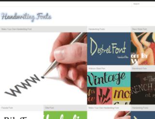 handwritingfonts.org screenshot