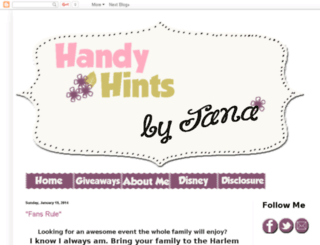 handyhintsbyjana.com screenshot