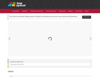 hangiuniversite.com screenshot