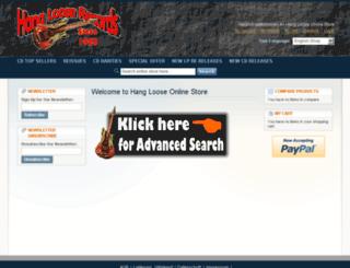hangloose-recordshop.de screenshot