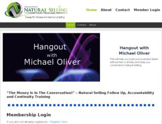 hangoutwithmichaeloliver.com screenshot
