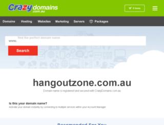 hangoutzone.com.au screenshot
