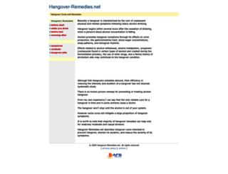 hangover-remedies.net screenshot