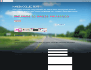 hanizacollection.blogspot.com screenshot