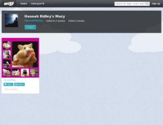 hannahridley.muzy.com screenshot