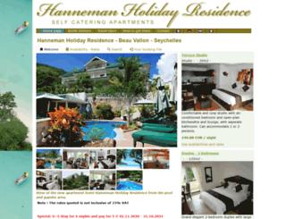 hanneman-seychelles.com screenshot