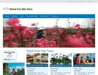 hanoifreecitytours.com screenshot