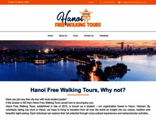 hanoifreewalkingtours.com screenshot