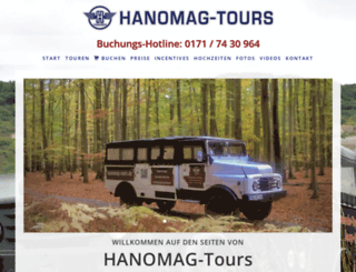 hanomag-tours.de screenshot