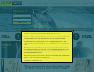 hanoverholidays.com screenshot