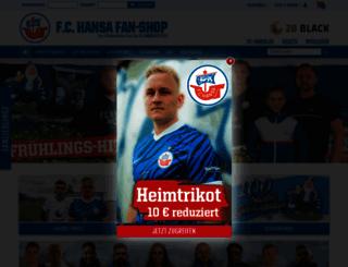hansa-fanshop.de screenshot