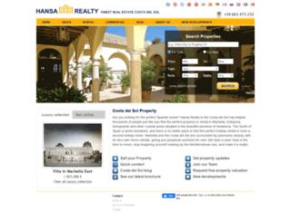 hansa-realty.com screenshot